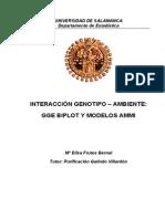 Interacción Genotipo Ambiente. GGE Biplot y Modelos AMMI