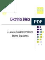 Tema3-Analisis Circuitos Electricos Básicos. Transistores