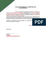 Modelo de Certificación de Competencia y Entrenamiento