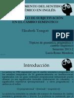 En Aumento Del Sentido Epistémico en Inglés Un Ejemplo de Subjetivación en El Cambio Semántico
