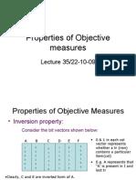 Properties of Objective Measures