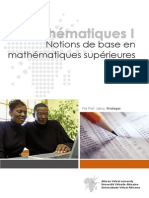 Notions de Base en Mathematiques Superieures
