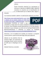 Invitación 2 Marcha Aborto Libre, Gratuito y Seguro