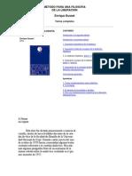 Libro -Dussel- Metodo Para Una Filosofia de La Liberacion