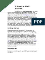 Extended Preston Blair Phoneme Series