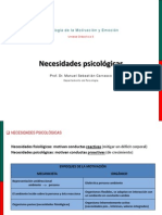 NECESIDADES PSICOLOGICAS