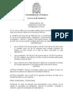 Resolución 738 Consejo Facultad Medicina, Universidad de Antioquia