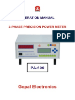 Manual PA 600
