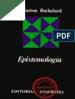 Bachelard. Epistemologia.