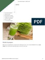 Suco Verde Para Emagrecer - Sabores Do Chef