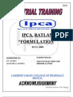 ratlam training report