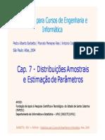 Distribuiçoes Amostrais e Estimacao de Parâmetros
