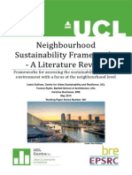 Neighbourhood Sustainability Assessment Frameworks- A Literature Review