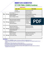 Date Sheet Final Exam Combine Summer' 14