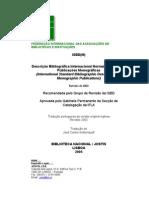 Descrição Bibliográfica Internacional Normalizada - Monografias