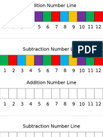 Number Lines-Addition and Subtraction