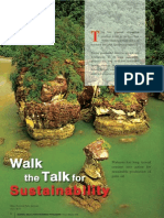 Walk the Talk for Sustainability