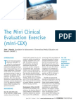 The Mini-clinical Evaluation Exercise