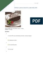 Ganache-Topped Chocolate Cake Recipe