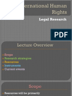 00 00 IHRL Legal Research PDF of PPT Working Links