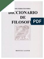 Ferrater Mora - Dicc de Filosofia F