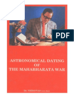 Astronomical Dating of the Mahabharata War