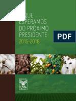 O QUE ESPERAMOS DO PRÓXIMO PRESIDENTE 2015-2018