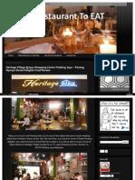 Heritage Village Jaya Shopping Centre Penang Food Best Restaurant Review