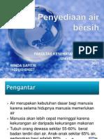 presentasi materi dasar kesehatan lingkungan penyediaan air bersih