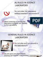 1-Science Lab Rules