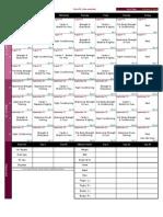 RushFit (Intermediate) Schedule