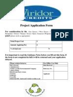Viridor Application Form 2008