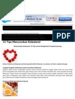 15 Tips Menurunkan Kolesterol _ Dokita - Dokter Kita