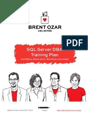 SQL-Server-DBA-Training-Plan-1 pdf   Database Index
