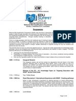 Edu Summit - Programme Outline