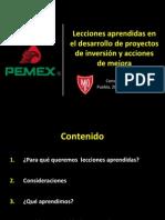 Lecciones Aprendidas en El Desarrollo de Proyectos de Inversión y Acciones de Mejora