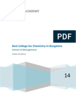 Best College for Chemistry in Bangalore | IndianAcademy