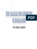 Top College for Chemistry in Bangalore | IndianAcademy
