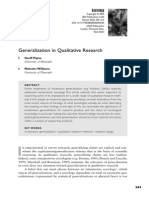 Generalization in Qualitative Research