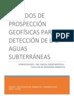 Métodos de Prospección Geofísicas Para La Detección de Las Aguas Subterráneas