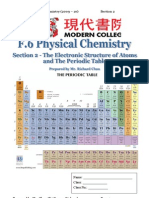 Section 2 The Electronic Structure of Atoms and the Periodic Table
