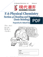 Section 4A Bonding and Structure I (Ionic Bonding)