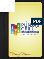 Punjab Grill Indian Restaurant - Dining Menu - Baulkham Hills