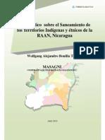 Diagnostico Del Saneamiento de Los Territorios Indígenas y Étnicos de La RAAN, Nicaragua