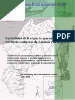 Factibilidad de La Etapa de Saneamiento de Los Territorios Indígenas de Bosawás y la RAAN