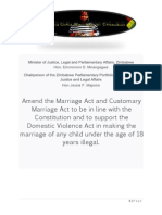 Petition for Legislative Changes to End Child Marriage in Zimbabwe