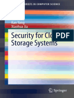 Security for Cloud Storage Systems - Jia, Xiaohua, Yang, Kan