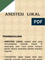 Anestesi Lokal dr.Pandit