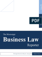 The Business Law Reporter - Spring 2014
