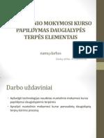 Nuotolinio Mokymosi Kurso Papildymas Daugialypės Terpės Elementais Aidas Čeplevičius